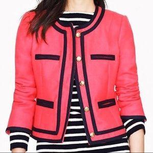 J Crew Lady Blazer 100% Wool Coral